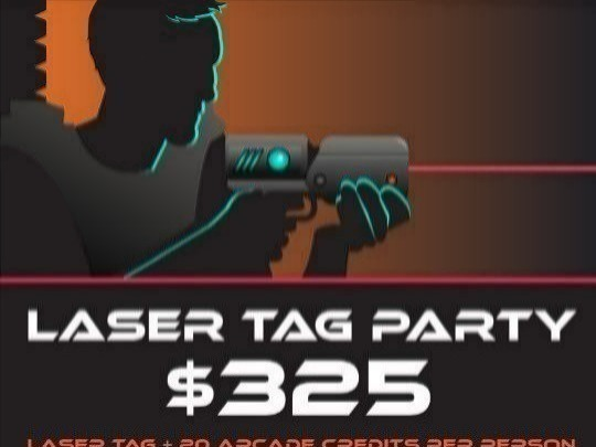 Laser Tag + 20 Arcade Credits per person